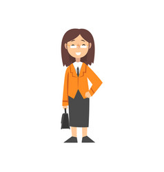 Girl businesswoman character kid dreaming of vector