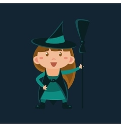 Girl In Wizard Of Oz Witch Haloween Disguise vector image