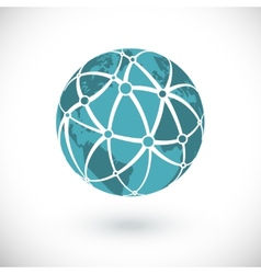 Global network icon vector