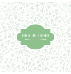 green abstract triangles textile texture frame vector image