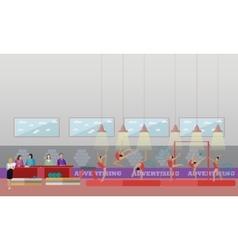 Gymnastic sport competition arena interior vector