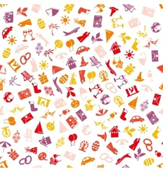 Holiday and events seamless pattern vector