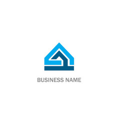 home construction shape triangle logo vector image