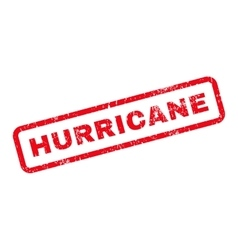 Hurricane Text Rubber Stamp vector