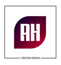 Initial letter ah logo template design vector