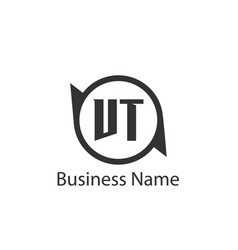 initial letter vt logo template design vector image