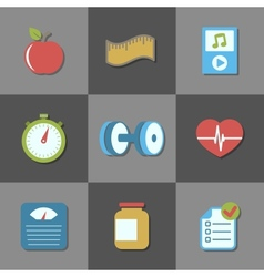 Interface elements for fitness website vector image