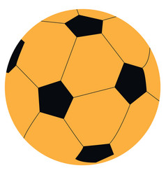 Isolated soccer ball vector