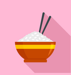 japan rice bowl icon flat style vector image
