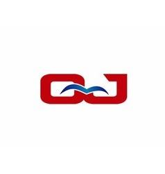 Letter QJ Logo vector