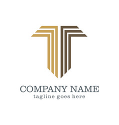 letter t abstract company logo vector image