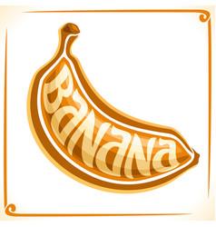 Logo for banana vector
