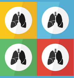 lung icon flat design vector image