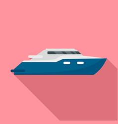 luxury yacht icon flat style vector image