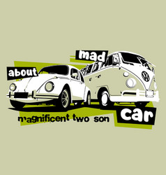 mad car vector image