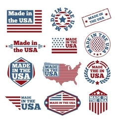 Made in USA labels vector