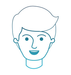 Male face with side part hairstyle in degraded vector