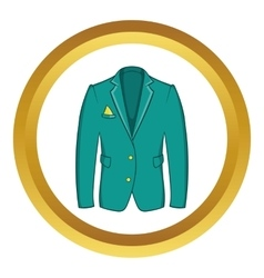 Mans green jacket icon vector image