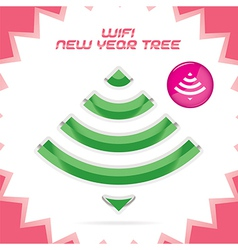 Merry Christmas New Year wifi Icon vector image