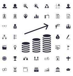 Money increase icon vector