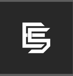 Monogram letters se or es initials logo vector