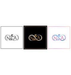 na monogram na initial wedding na logo company vector image
