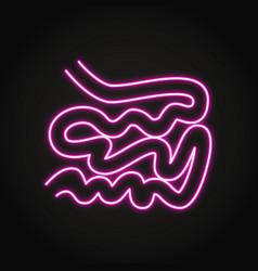 Neon small intestine icon in line style vector