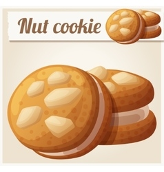 Nut cookie Detailed icon vector image