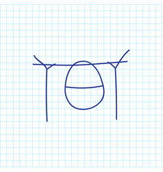 Of trip symbol on camping pot vector