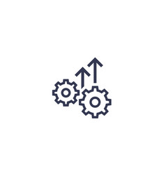 Operational excellence efficiency icon vector