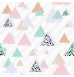 Pastel design with triangles vector