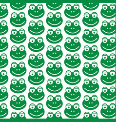 pattern background frog icon vector image