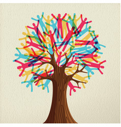 people tree concept for diverse community vector image