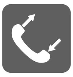 Phone Talking Flat Squared Icon vector