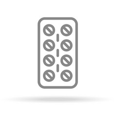 pills strip medicine icon in trendy thin line vector image