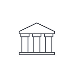 public bank building university or museum vector image