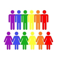 rainbow gay LGBT rights icons vector image