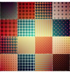 Retro patchwork pattern vector