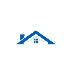 roof house building logo vector image