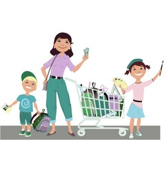 Save on back to school shopping vector image