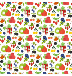 seamless pattern colorful berries vector image