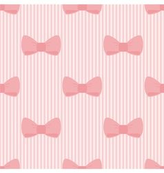 Seamless pattern with bows on pink background vector
