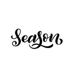 season inscription isolated on white background vector image