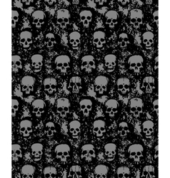 set hand drawn skulls vector image