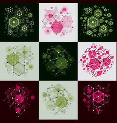 Set of modular bauhaus backgrounds created from vector