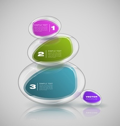 shape glass vector image
