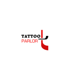 sing tattoo parlor vector image