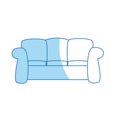 Sofa furniture comfort interior decor vector