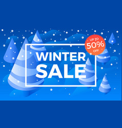 special offer winter sale banner isometric style vector image