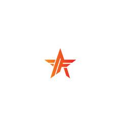Star f initial logo vector